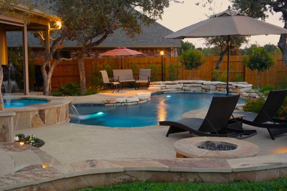 Gallery - Austin Pool Builders | Reliant Pools Austin's ... on Patio Ideas Around Pool id=60268
